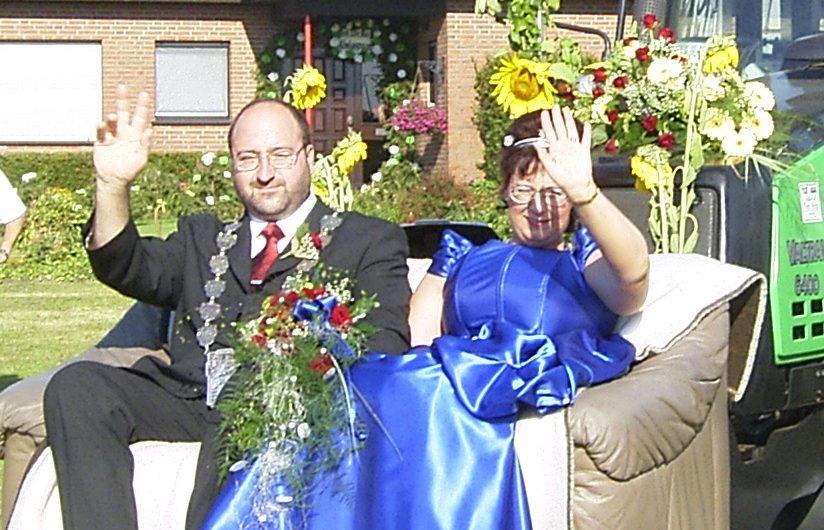 Königspaar Franz-Willi I. Janßen und Petra II. Hoffmann