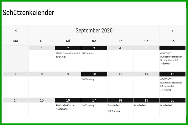 Schützenkalender